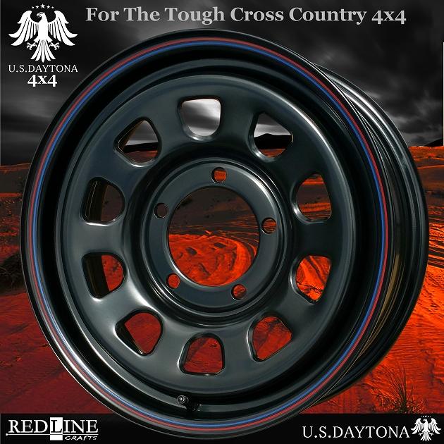 ■ U.S.Daytona 4x4 ■ ホイール4本セット16x5.5J OFF+20/PCD139.7 ブラック色スズキジムニー専用サイズ