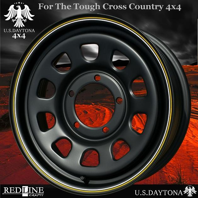 ■ U.S.Daytona 4x4 ■ ホイール4本セット16x5.5J OFF+20/PCD139.7 艶消しマットブラック色スズキジムニー専用サイズ
