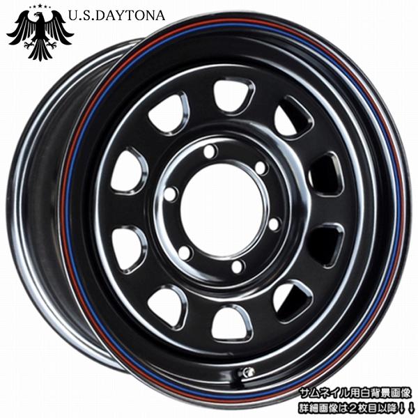 ■ U.S.Daytona デイトナ ■ブラックカラー ホイール4本セット100系ハイエース他、汎用サイズ!!