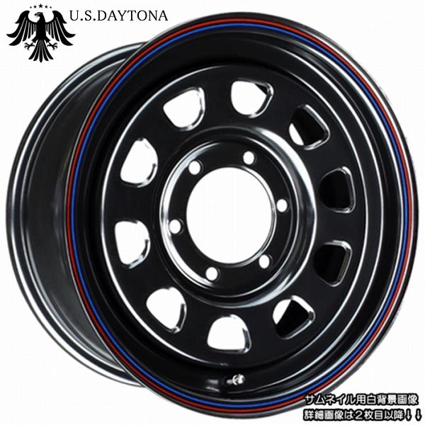 ■ U.S.Daytona デイトナ ■GOODYEARナスカー 215/65R16 タイヤ付ブラックカラー 200系ハイエース他