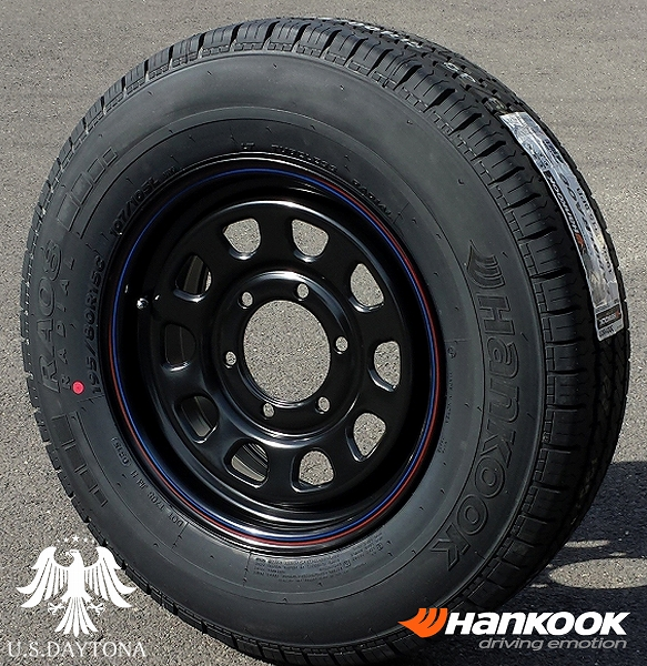 ■ U.S.Daytona デイトナ ■Hankook 195/80R15 タイヤ付4本セットブラックカラー 200系ハイエース他