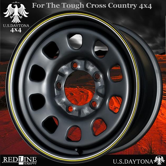 ■ U.S.Daytona 4x4 ■ ホイール4本セット17x8.0J OFF+35/PCD150ランクル100/ランクル200他(注意:ローオフセット/チューン用サイズ)