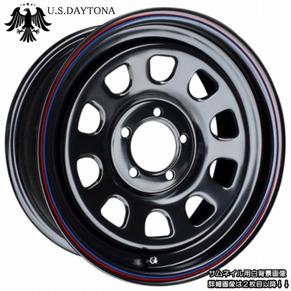 ■ U.S.Daytona デイトナ ■オフセット+35 PCD114.3ブラックカラー ホイール4本セット汎用サイズ!!