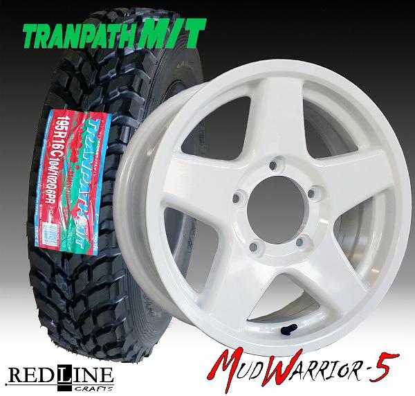 ■ MUD WARRIOR-5 ■ MW-5スズキジムニー専用モデルTOYO MT 195R16 タイヤ付4本セット