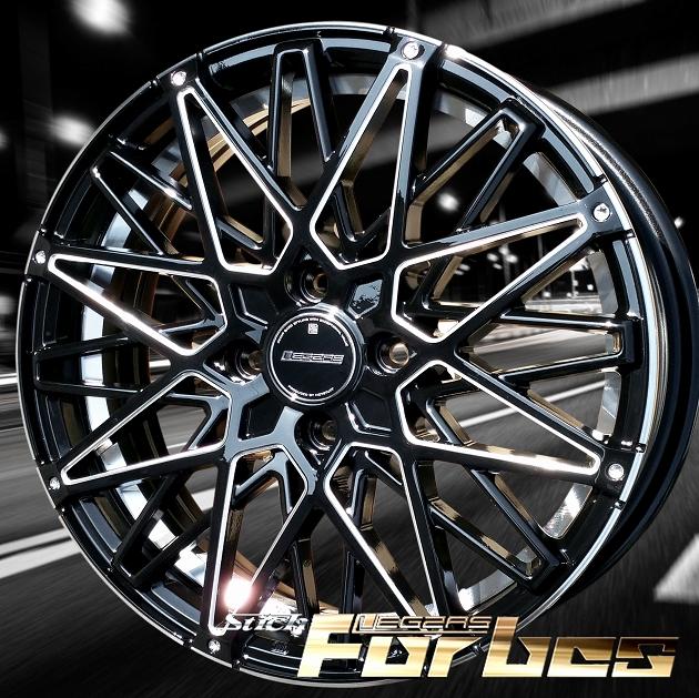 ■ Stich LEGZAS FORBES ■ Newモデル軽四用16in新品ホイール+タイヤ4本セットHankook 165/45R16タイヤ付き   ザッツ/ライフ/モコ/ルークス/パレット/ワゴンR/エッセ/ミラ/ムーブ など