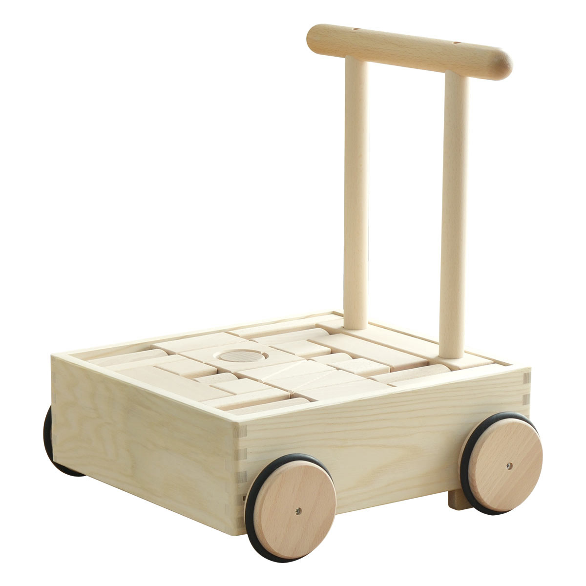 【1年保証】コイデ KOIDE 日本製 おもちゃ 玩具 押車積み木 K25 手押し車 押し車 積み木 知育 室内 1歳 2歳 男の子 女の子 子供 幼児 ベビー 知育玩具 出産祝い 誕生日 ウッド 天然木 国産[送料無料]