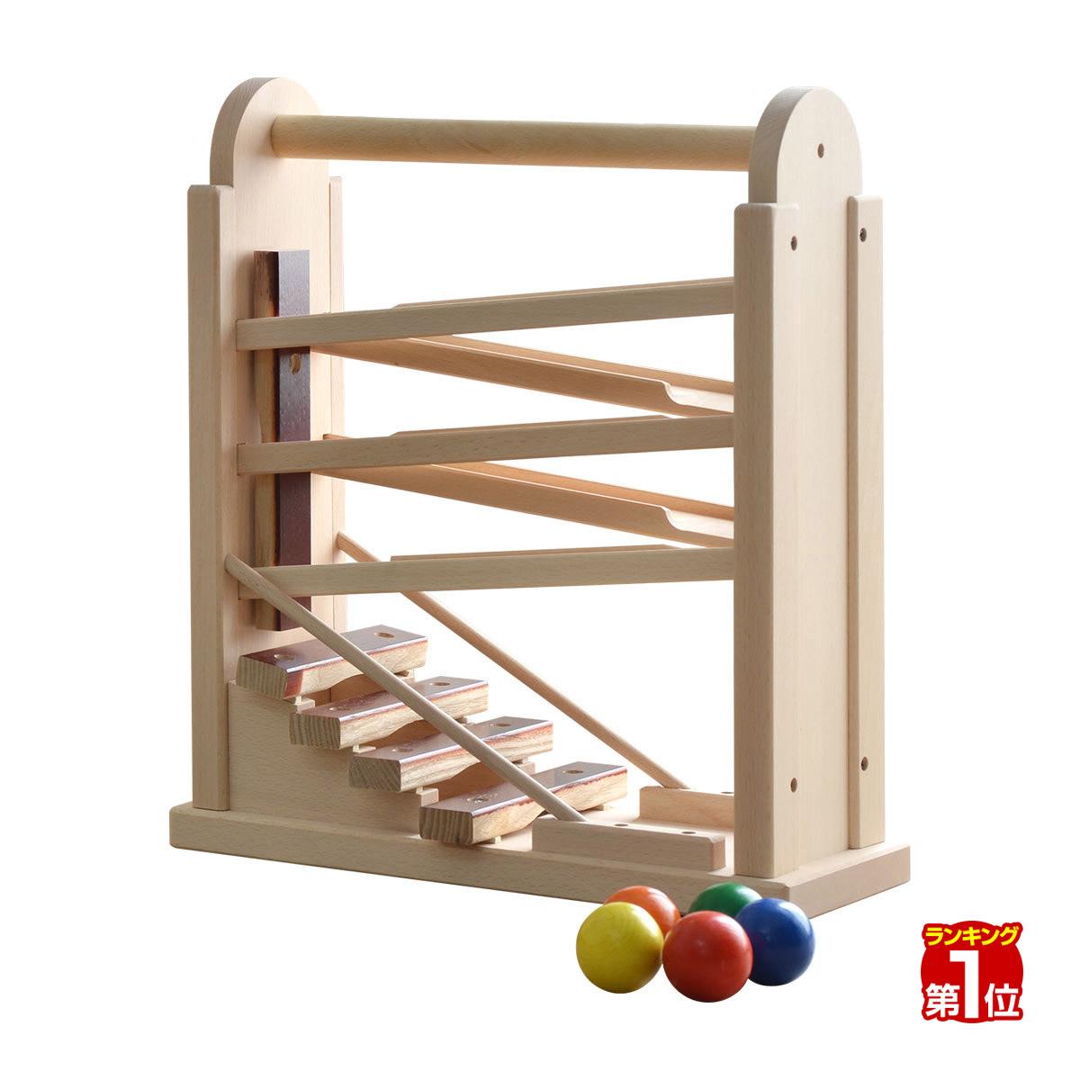 1年保証 コイデ KOIDE 日本製 おもちゃ 玩具 コロコロシロホン M63 木琴 ボール 楽器 スロープ 知育 室内 3歳 男の子 女の子 子供 幼児 ベビー 知育玩具 出産祝い 誕生日 ウッド 天然木 国産 ★[送料無料]