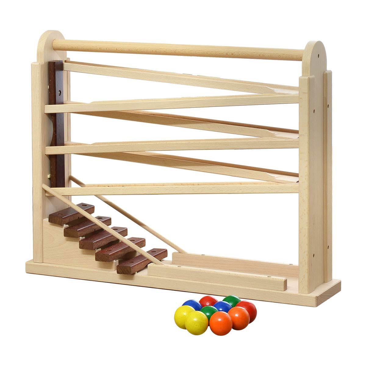 【1年保証】コイデ KOIDE 日本製 おもちゃ 玩具 コロコロシロホン M64 木琴 ボール 楽器 スロープ 知育 室内 3歳 男の子 女の子 子供 幼児 ベビー 知育玩具 出産祝い 誕生日 ウッド 天然木 国産[送料無料]
