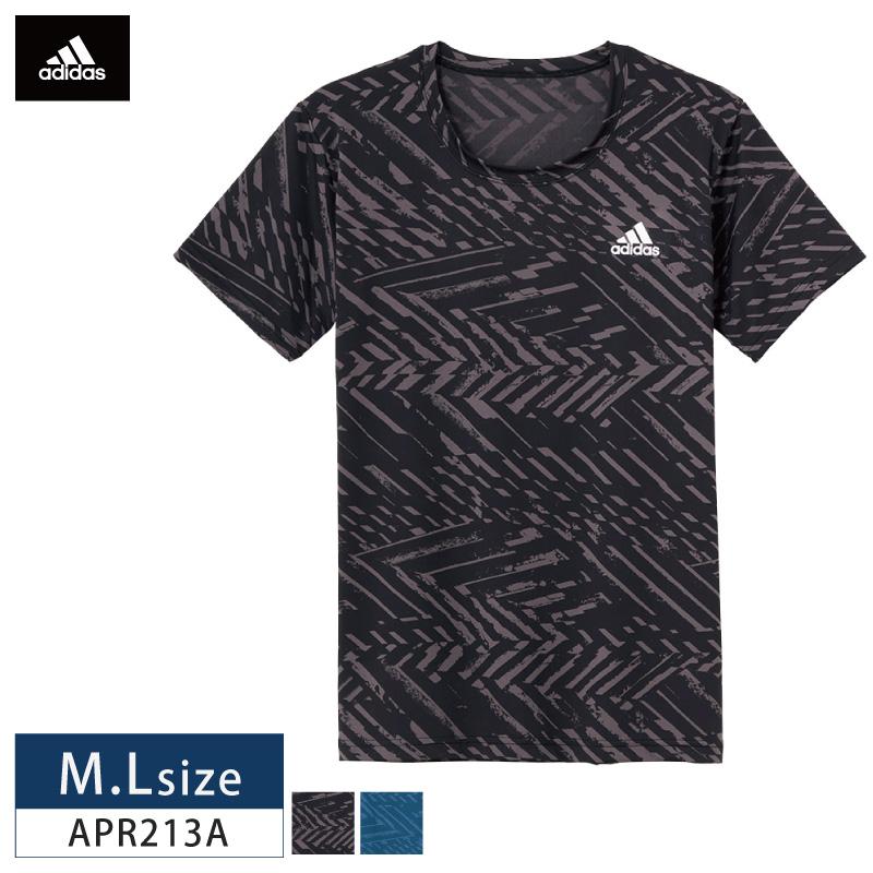 adidas アディダス GUNZE グンゼ メンズ Tシャツ 半袖 吸汗速乾 ストレッチ UVカット トーンオントーン 紳士用 30%OFF adidas アディダス(GUNZE グンゼ) メンズ Tシャツ 半袖 吸水速乾 UVカット素材 APR213A