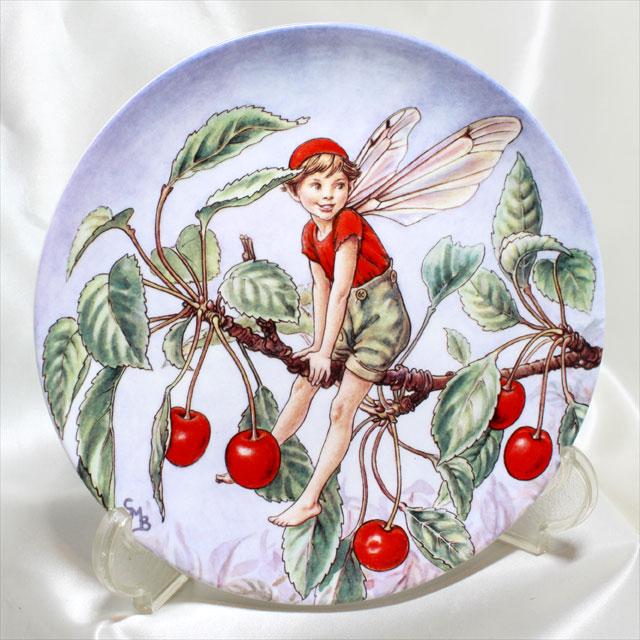 1996年 Wedgwood チェリー ツリー フェアリー Cherry Tree Fairy さくらんぼ花の妖精が可愛らしいフラワー フェアリー 絵皿 シシリー メアリー バーカー イギリス ウォールプレート ウェッジウッド 飾り皿 プレゼント ギフト 【中古】 【送料無料】 02P05Oct15