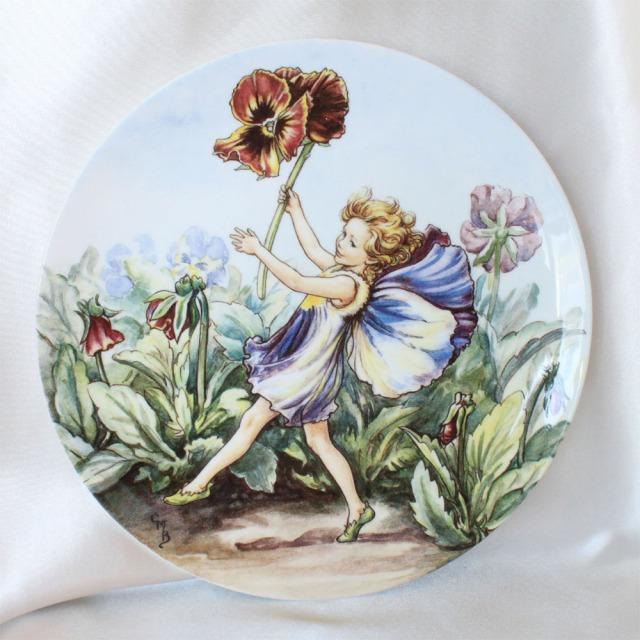 WEDGWOOD パンジー フェアリー Pansy Fairy 花の妖精が可愛らしいフラワー フェアリー 絵皿 シシリー メアリー バーカー イギリス ウェッジウッド ウォールプレート 飾り皿 プレゼント ギフト 【中古】 【送料無料】 02P07Nov15