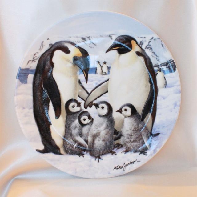 皇帝 ペンギン エンペラー ペンギン Emperor Penguins マイク ジャクソン コレクターズ トレジャリー 1991年 ロイヤル グラフトン Royal Grafton 絵皿 ウォール プレート 飾り皿 プレゼント ギフト 【中古】 【送料無料】 02P31Aug16 02P06Aug16 532P14Aug16