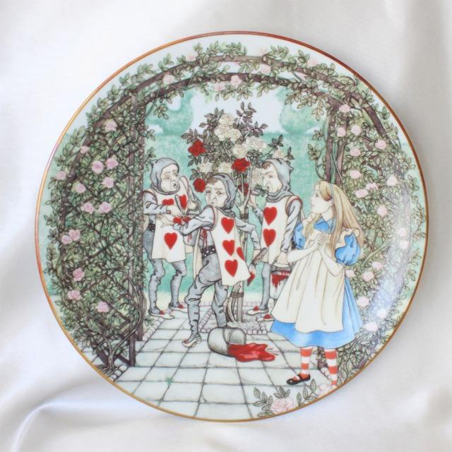 不思議の国のアリスの絵皿 アリスとトランプの庭師 アリス イン ワンダーランド Alice in Wonderland フランス リモージュ Limoges ジョルジュ ボワイエ Georges Boyer コレクターズ プレート 532P16Jul16 02P29Jul16 02P06Aug16