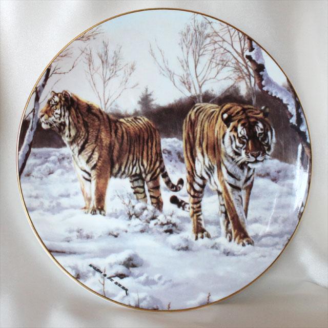 トラの絵皿 スノータイガー 世界の虎 ロイヤル ドルトン Royal Doulton イギリス 絵皿 ウォール プレート 飾り皿 プレゼント ギフト 【中古】 【送料無料】 02P31Aug16 02P06Aug16 532P14Aug16