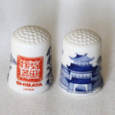 シバタ 柴田 Shibata Porcelain 青い寺院 Hallmark of WGPH 世界の名窯 ホールマーク ファクトリーマーク TCC シンブル コレクターズ クラブ 指ぬき The Hallmarked Thimbles of the World's Great Porcelain Houses 【送料無料】日本製