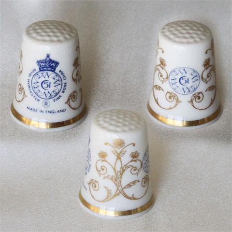 ロイヤル ウースター Royal worcester Hallmark of WGPH 世界の名窯 ホールマーク ファクトリーマーク TCC シンブル コレクターズ クラブ 指ぬき The Hallmarked Thimbles of the World's Great Porcelain Houses 【送料無料】