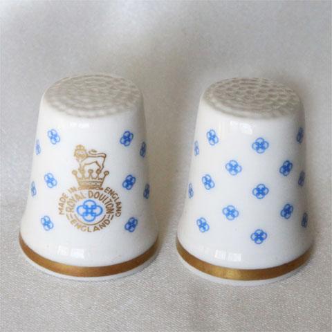 ロイヤルドルトン Royal Doulton Hallmark of WGPH 世界の名窯 ホールマーク ファクトリーマーク TCC シンブル コレクターズ クラブ 指ぬき The Hallmarked Thimbles of the World's Great Porcelain Houses 【送料無料】