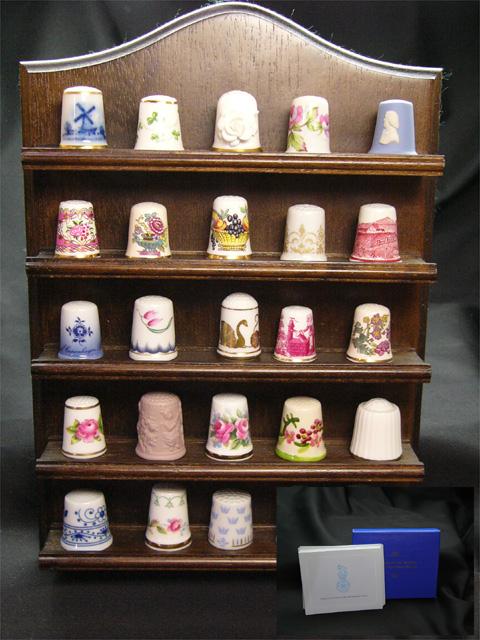 WGPH 世界の名窯シンブル Thimbles of the Worlds' Porcelain Houses 25個 フルセット フランクリンミント1980年発行のヴィンテージセット シンブル 指貫き 【送料無料】