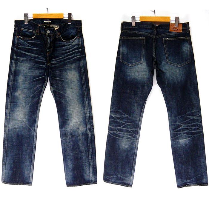 我們店的正常價格價格 20304 日元為 10%的折扣出售-永恆 [永恆] 低直褲子 / 牛仔褲 / 牛仔 / 53738 COL1 製造的日本 /