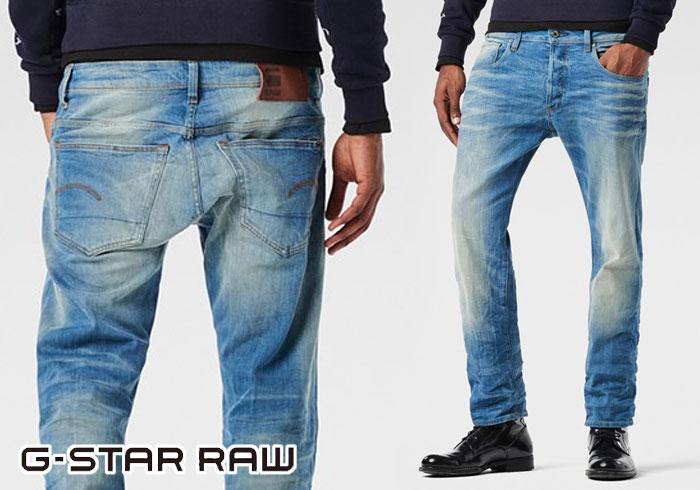 afa74de6 G-STAR RAW [ジースターロウ] 3301 STRAIGHT CYCLO STRETCH DENIM straight stretch  jeans ...