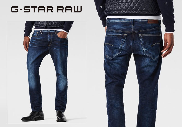 e37d220c G-star RAW [the star row, 3301 TAPERED HADRON DENIM tapered jeans / denim  /51003.6576.89