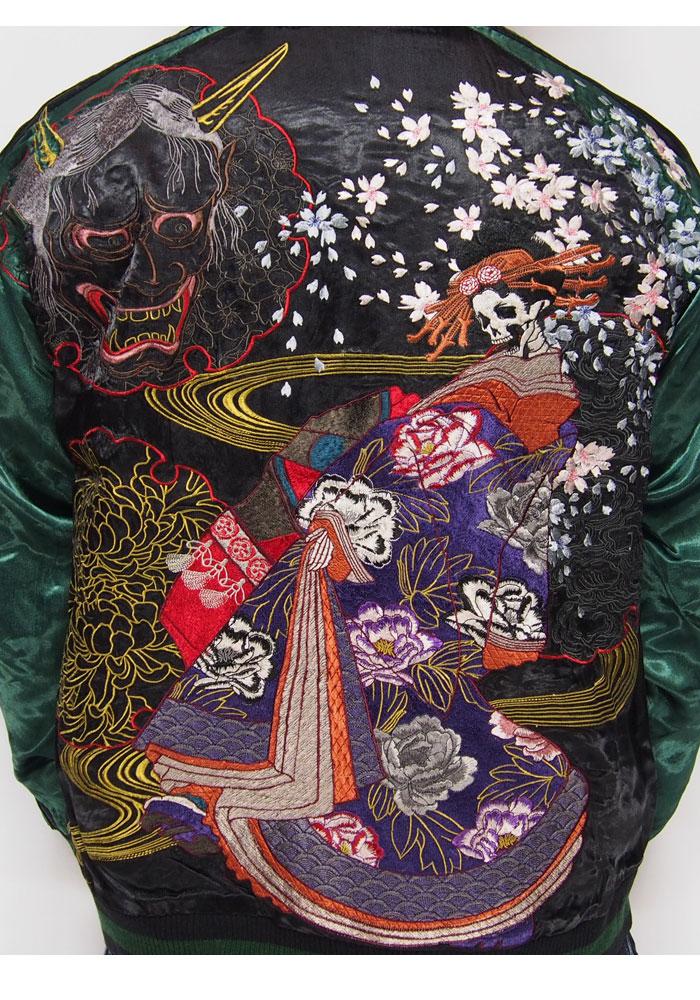 [禪悟] 禪悟花魁頭骨繡可逆的日本模式柳光 /GSJR-005