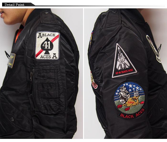 AVIREX [avirexl] black ACE L-2B flight jacket / outerwear / 6162124 /
