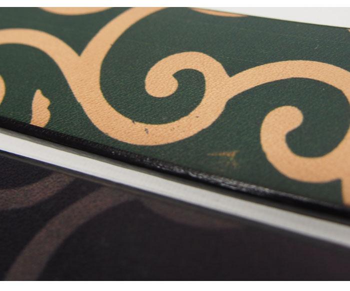 小偷 x ikenohata 银皮革日记存储阿拉伯式花纹图案皮革日本模式带 /D14295 /