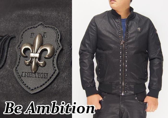 Be Ambition[ビーアンビション] 百合ワッペン ジャケット/アウター/E27203/送料無料【ビーアンビションから新作アイテムが登場!!】