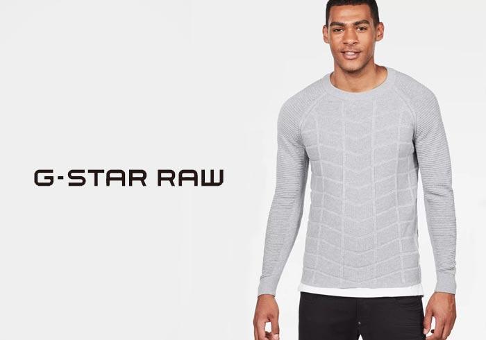 G-STAR RAW[ジースターロウ] Suzaki Moto Knit ニットセーター/D09554-8403/送料無料【ジースターから新作ニットセーターが登場!!】