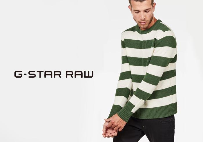 G-STAR RAW[ジースターロウ] Doolin Stripe Knit ニットセーター/D10771-A758/送料無料【ジースターから新作ニットセーターが登場!!】