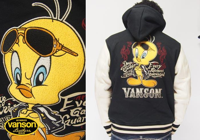 VANSON[バンソン] ×ルーニーテューンズ ボンディング スタジャン/ジャケット/アウター/LTV-906/送料無料【VANSON(バンソン)から新作スタジャンが登場!!】