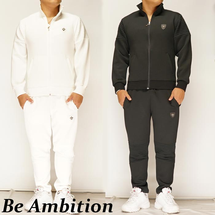 Be Ambition ビーアンビション ユリ&ロゴ エンボス ジャージ 上下セットアップ メンズ L29201/送料無料【ビーアンビションから新作セットアップが登場!!】