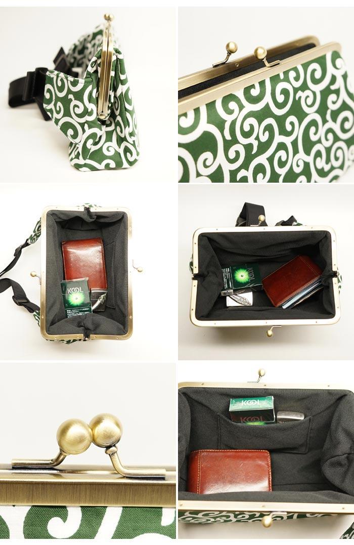 衣櫻 ころもざくらがま口 2WAYボディ 和柄ウエストバッグ BAG 鞄 SA 1186 送料無料 衣櫻から和柄がま口バッグが再登場EH2D9I