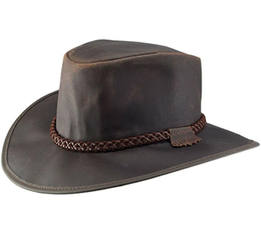【無料ラッピング対象】【Head'n Home】 American Outback - No.62-13006 Crusher カラー:Chocolate チョコレート USA アメリカ製 皮(動物性) 紳士 メンズ ウエスタン あごヒモ付き ハンドメイド テンガロンハット ウエスタン アウトドア