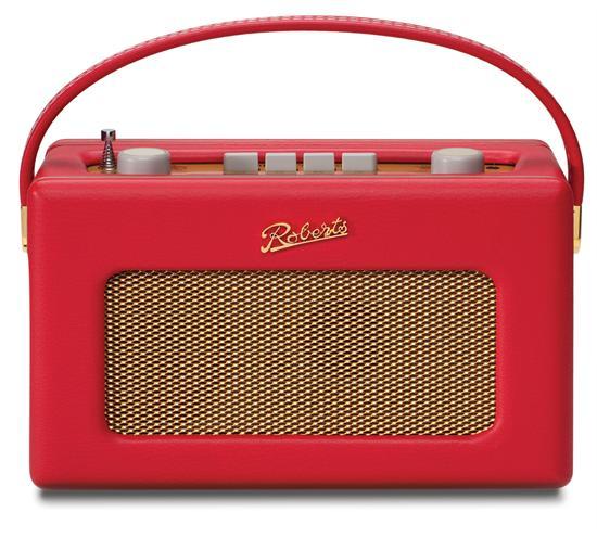 【翌日発送】【正規輸入代理店】【送料無料】【ROBERTS RADIO】ロバーツラジオ R250 レザークロス レッド バックライト付き ゴールドパネル 英国