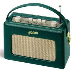 【正規輸入代理店】【日本仕様】【ROBERTS RADIO】英国 ロバーツラジオ R250 レザークロス グリーン(ヴィンテージ ホワイトパネルモデル)