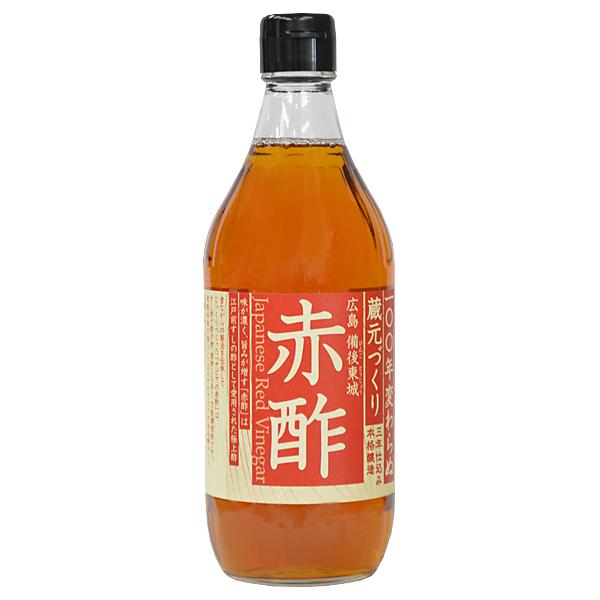 後藤の酢 赤酢 米酢 無添加 10本セット 500ml NAPIA 送料無料 幻の赤酢 爆安 休み