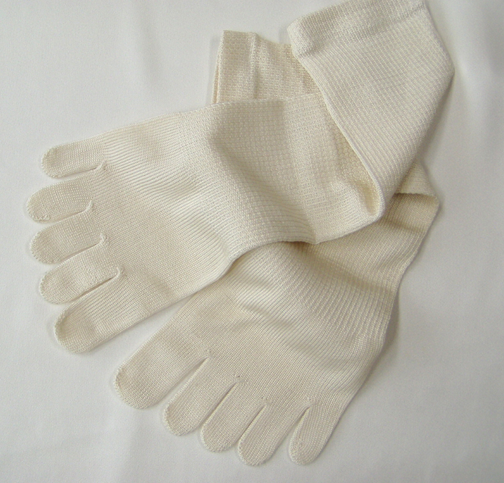 Women's gentle to your skin and warm, the senior auction silk five finger socks will lace up 23 cm-25 cm thin overlay put on socks can be the made in Japan