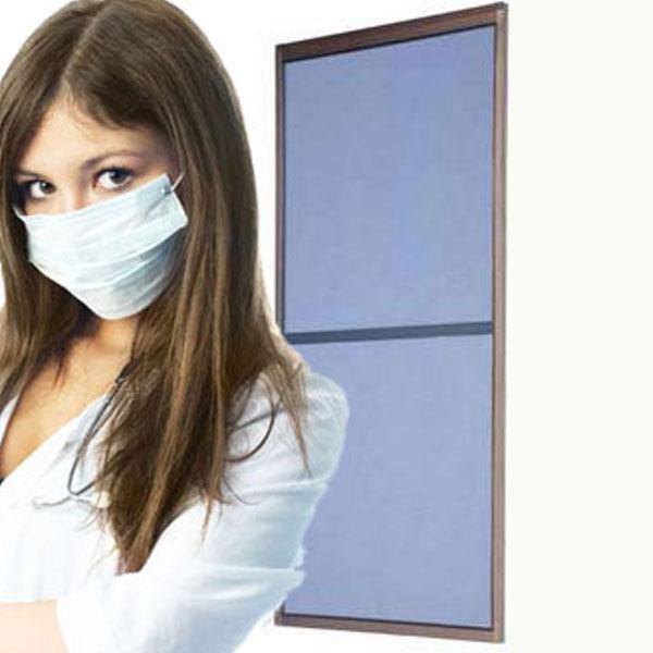 【完成品:花粉症対策網戸】 花粉フィルター網戸 H1538-1887xW851-970(mm)