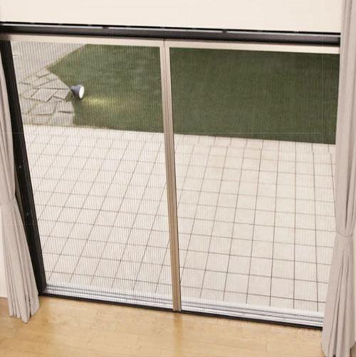 【サイズL】セイキ アルマーデIII(3) 両引き分けタイプ 玄関・窓共用 後付け網戸