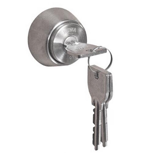 3部供MIWA U9交换使用的汽缸<LA/DA/LASP型>银子色/纯正键