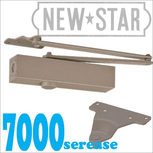 【NEW STAR】 P-7006 茶色(バーントアンバーN-52) パラレル型/ストップなしドアクローザー(日本ドアーチェック製造・ニュースター)