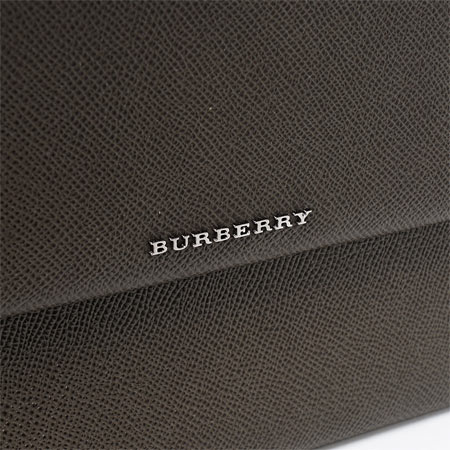 博柏利BURBERRY iPad情况平板电脑情况NORTHCHURCH LONDON LEATHER DARK CANVAS GREEN果岭系的3963027 darkcagreen人&女士