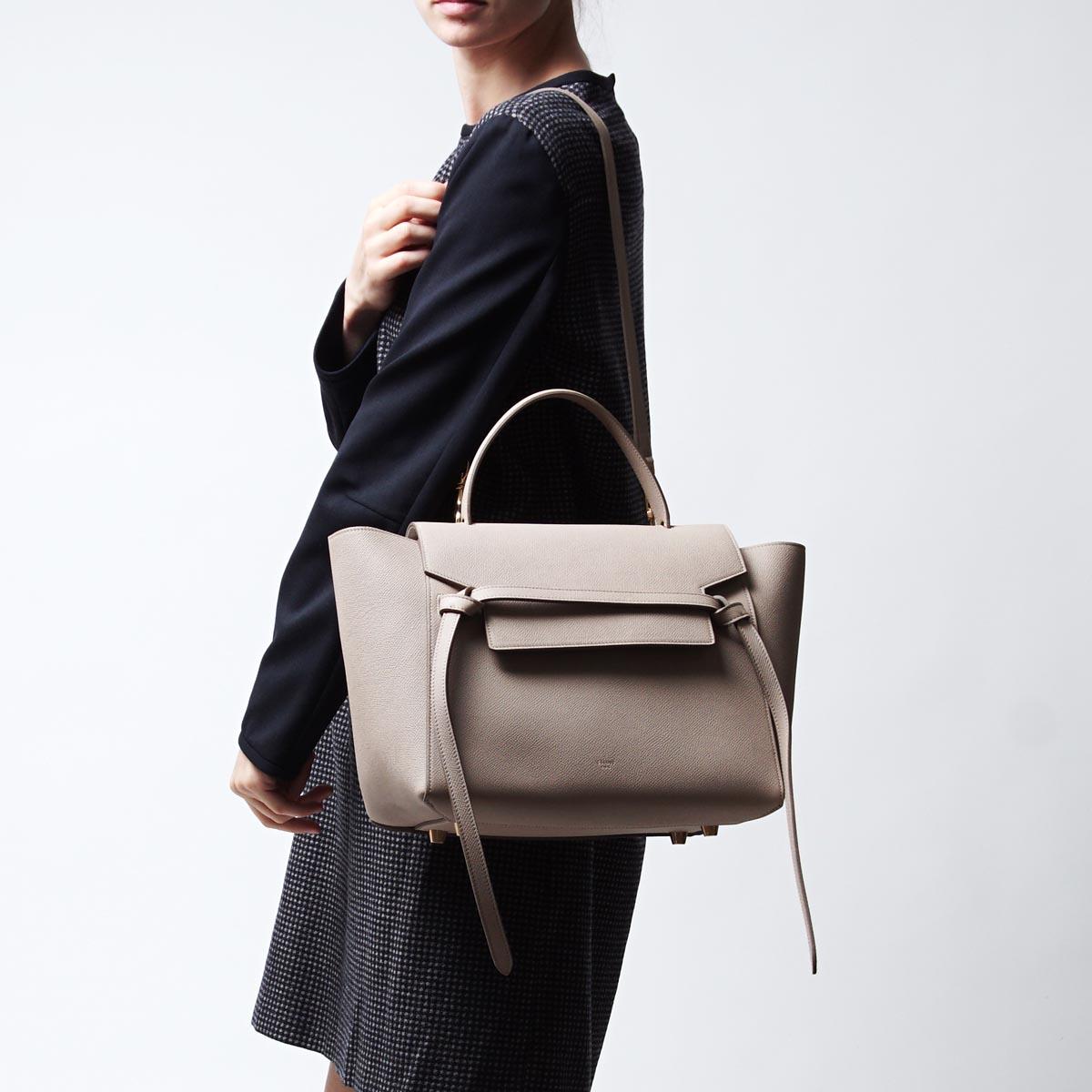 赛琳娜CELINE手提包(2WAY式样)Belt Bag LEATHER Light taupe浅驼色派17610 3zva 18lt女士