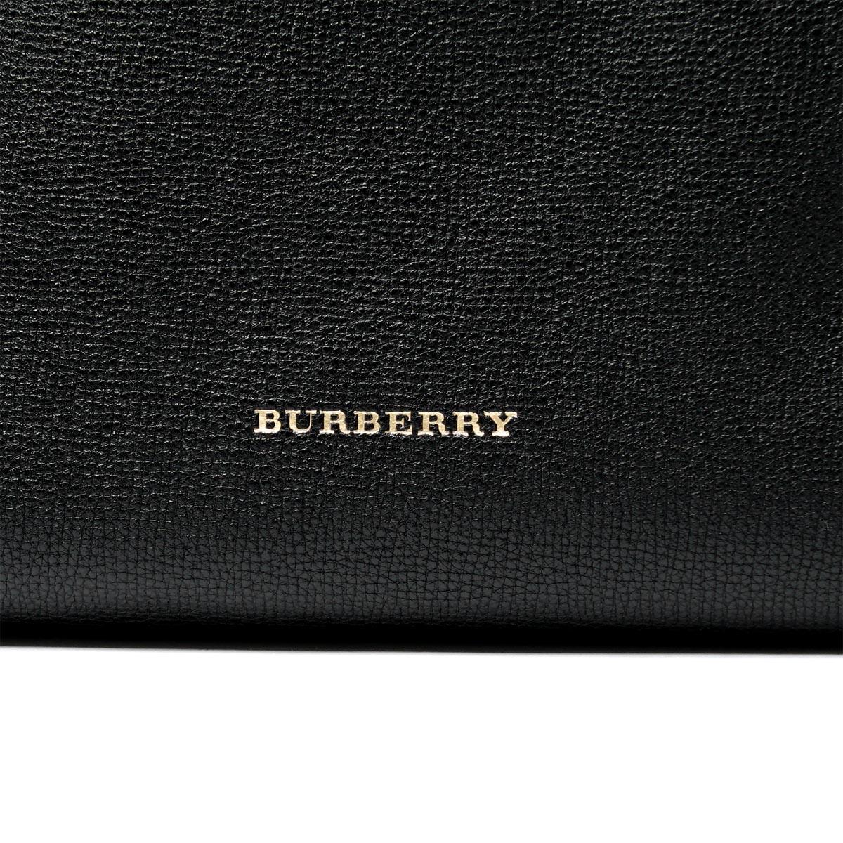 博柏利BURBERRY大手提包HOUSE CHECK DERBY SMALL CANTER BLACK黑色派3958975 black女士