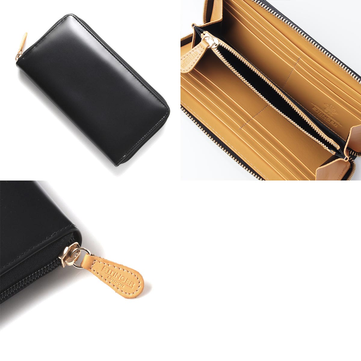 Ettinger ETTINGER round fastener long wallet [with the coin purse] royal collection et51 bridle men