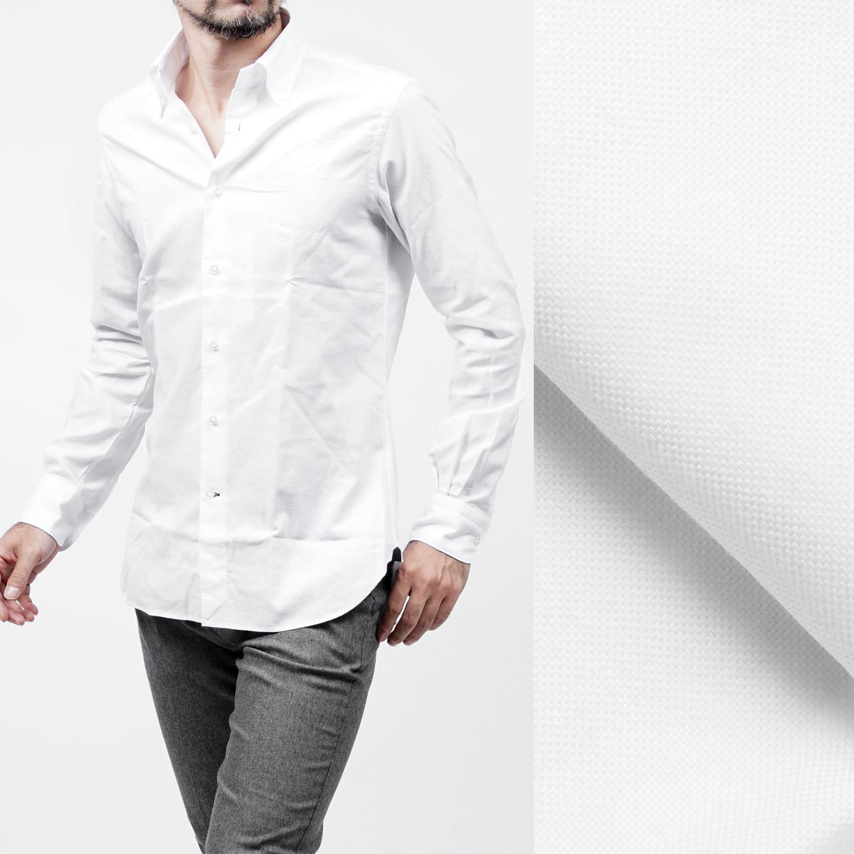 Discount Excellent Genuine Online slim fit button down shirt - White Orian Shipping Outlet Store Online VoBieaKe
