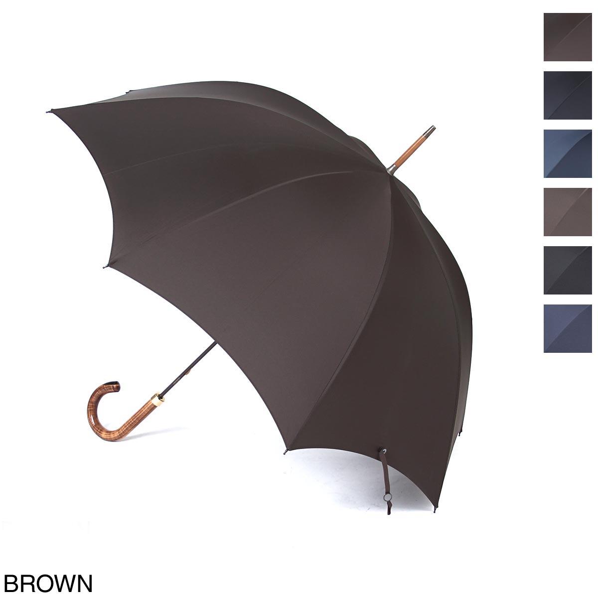 フォックスアンブレラズ FOX UMBRELLAS 傘 メンズ gt18 singlehorn brown GT18 Horn Inset Handle Umbrella【あす楽対応_関東】【返品送料無料】【ラッピング無料】