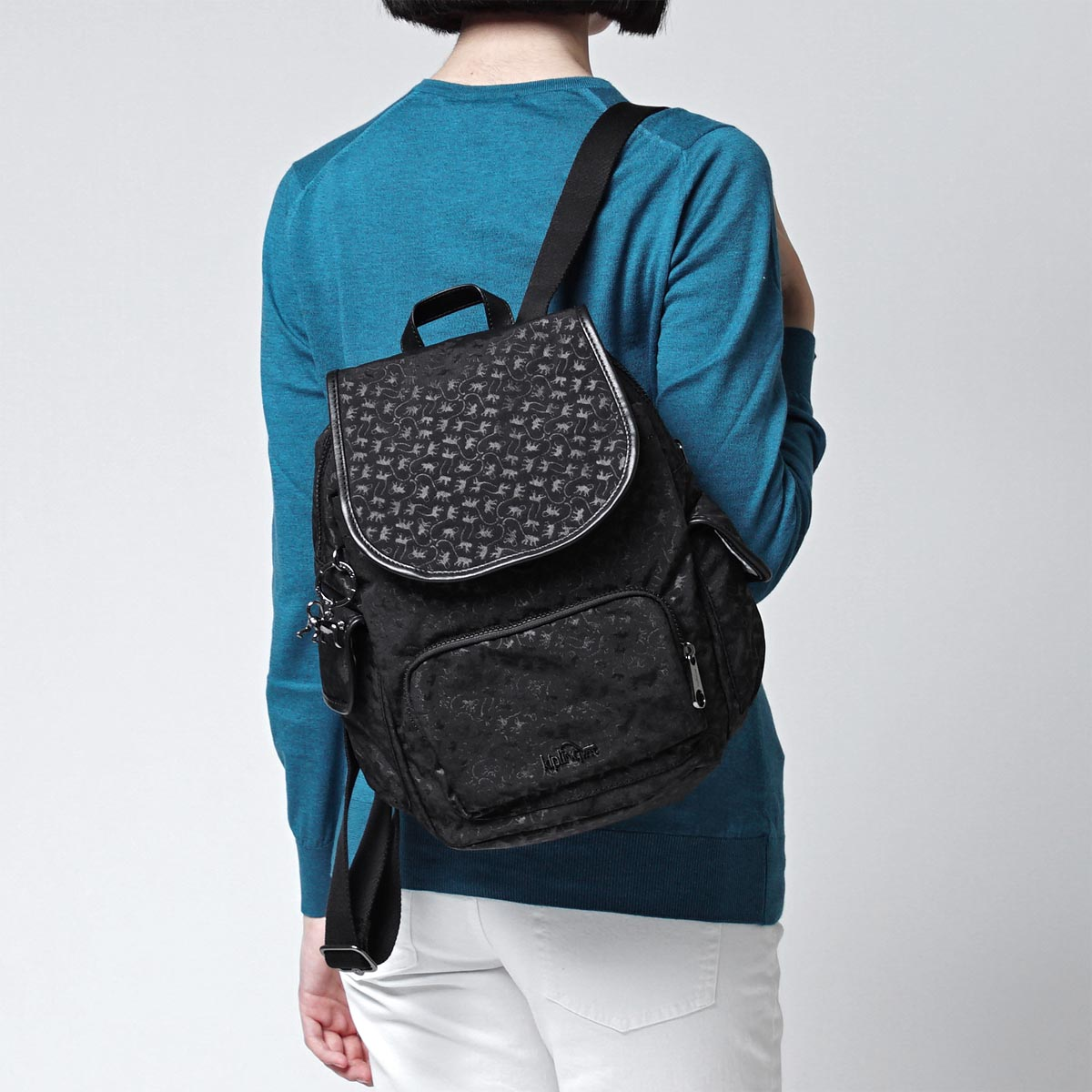 キプリング kipling backpack CITY PACK S MM BLACKMM black system k15723 98k Lady's